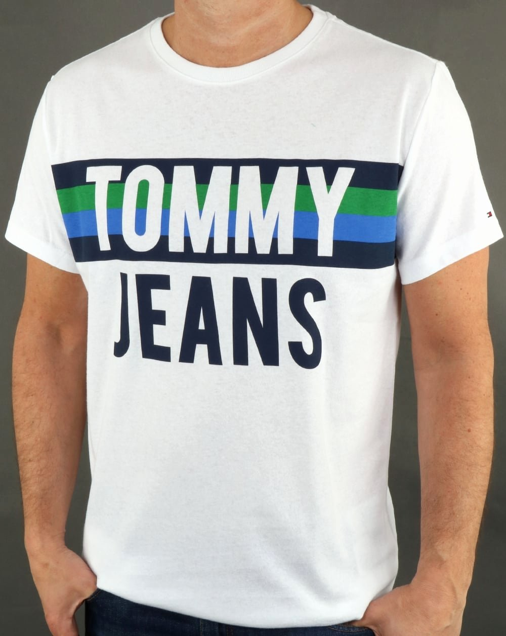 Font for T Shirt Lovely tommy Hilfiger Colorblock Font T Shirt Classic White Tee Cotton Logo Mens