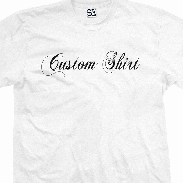 Font for T Shirts Inspirational Custom Fancy Script Font T Shirt