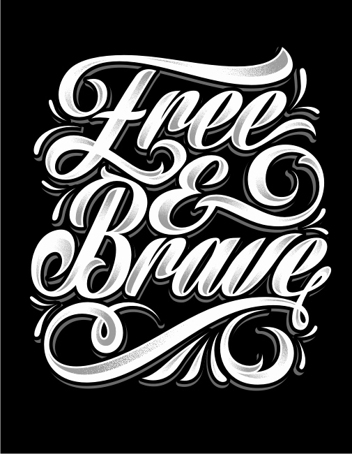 Font for T Shirts New Trendy T Shirt Design Needed for Free & Brave T Shirt Design 113 by Daanish