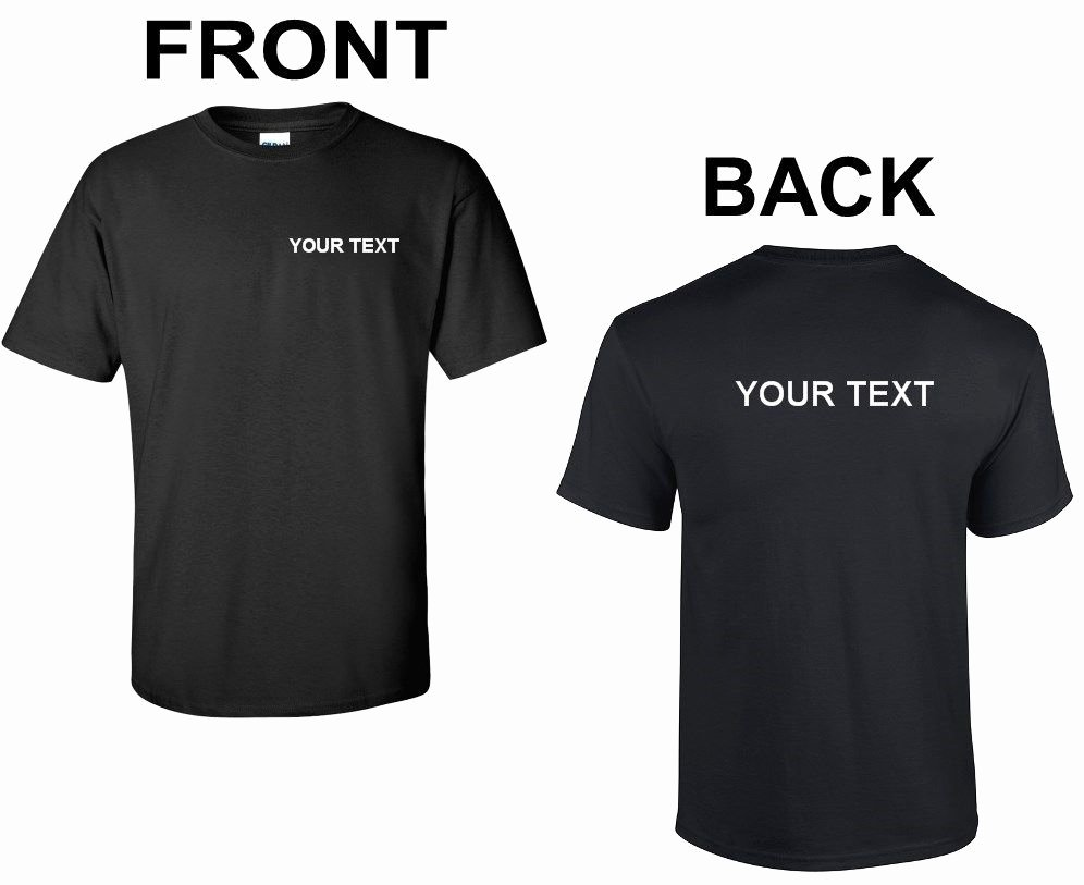 Fonts for T Shirts Beautiful Custom Personalized T Shirt Your Text Business Name Text Any Font Shirt