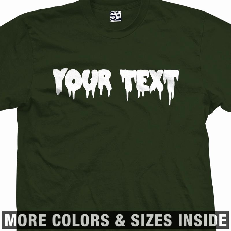 Fonts for T Shirts Elegant Custom Creepy Scary Font T Shirt All Sizes & Colors