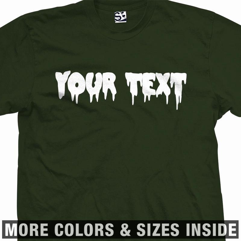Fonts for T Shirts Elegant Custom Creepy Scary Font T Shirt All Sizes & Colors