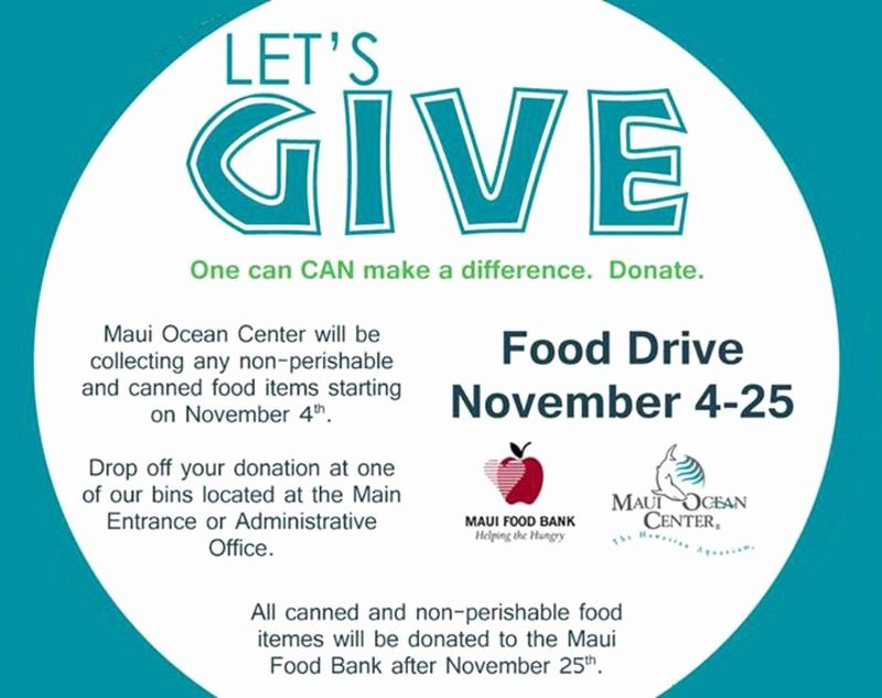 Food Drive Flyer Ideas Best Of Wailuku Hi What S A Better Way to Give Thanks Than to Give Back Through November 4 25 Maui