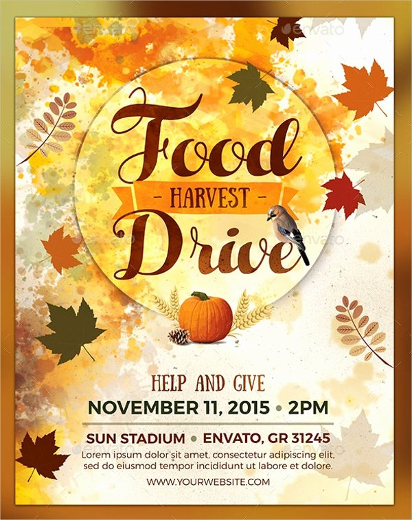 Food Drive Flyer Ideas Fresh 18 Food Drive Flyer Templates Psd Ai Word