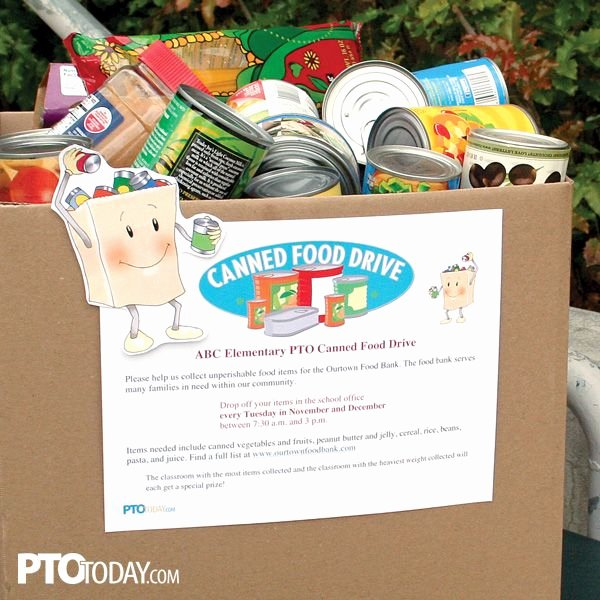 Food Drive Flyer Ideas Fresh Use Our Editable Flyer to Families Involved In Your Canned Food Drive Pto Pta