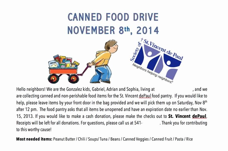 Food Drive Flyer Ideas Luxury 8 Best Food Drive Images On Pinterest