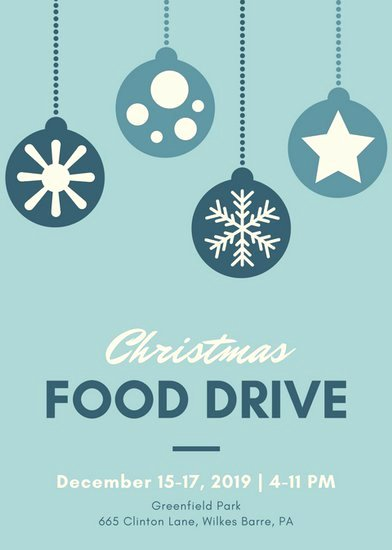 Food Drive Flyer Ideas Luxury Customize 72 Christmas Flyer Templates Online Canva