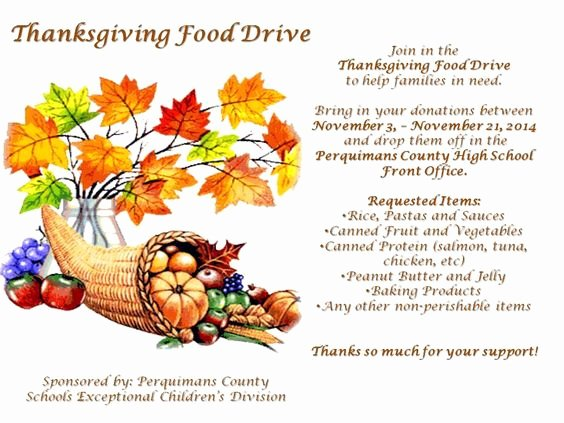 Food Drive Flyer Ideas New Thanksgiving Created by and Design On Pinterest