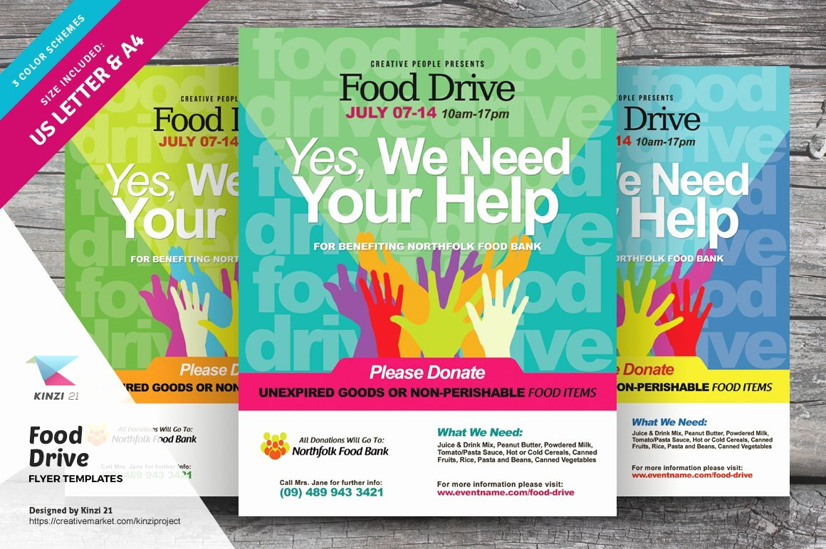 Food Drive Flyer Template Awesome Food Drive Flyer Templates Flyer Templates Creative Market