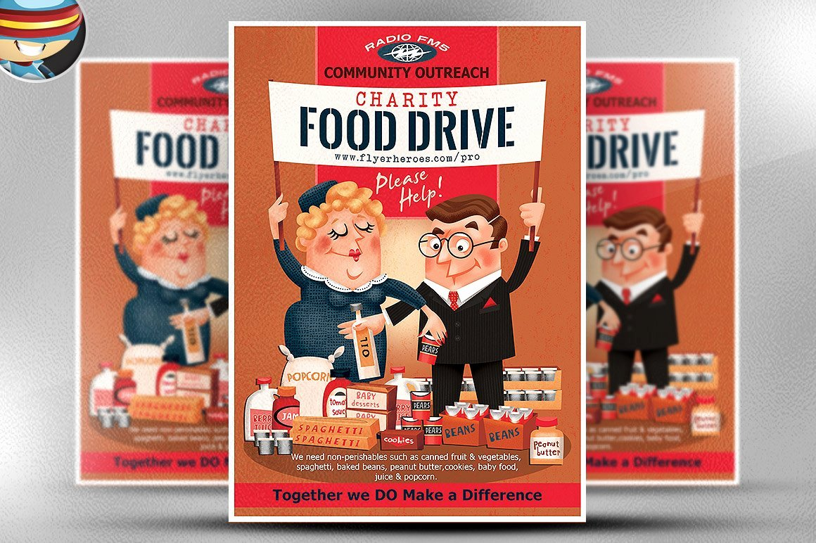 Food Drive Flyer Template Beautiful Charity Food Drive Flyer Template Flyer Templates Creative Market