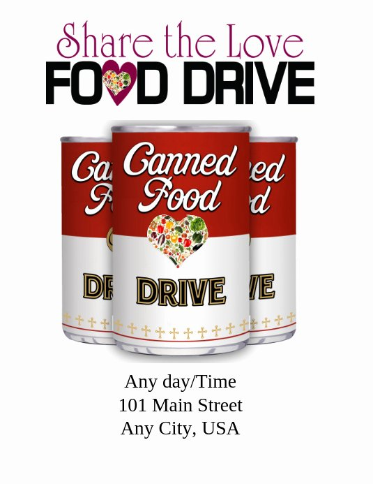 Food Drive Flyer Template Elegant Food Drive Template