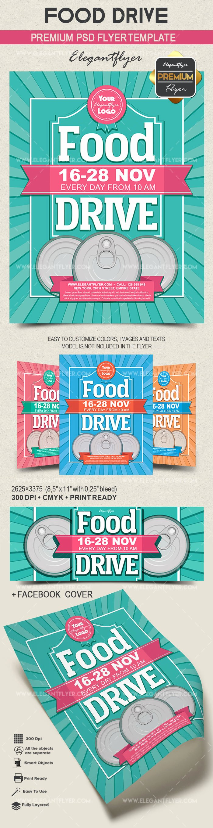 Food Drive Flyer Template New Food Drive – Flyer Psd Template – by Elegantflyer