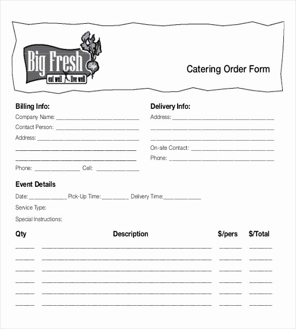 Food order form Template Inspirational 18 Food order Templates – Docs Word
