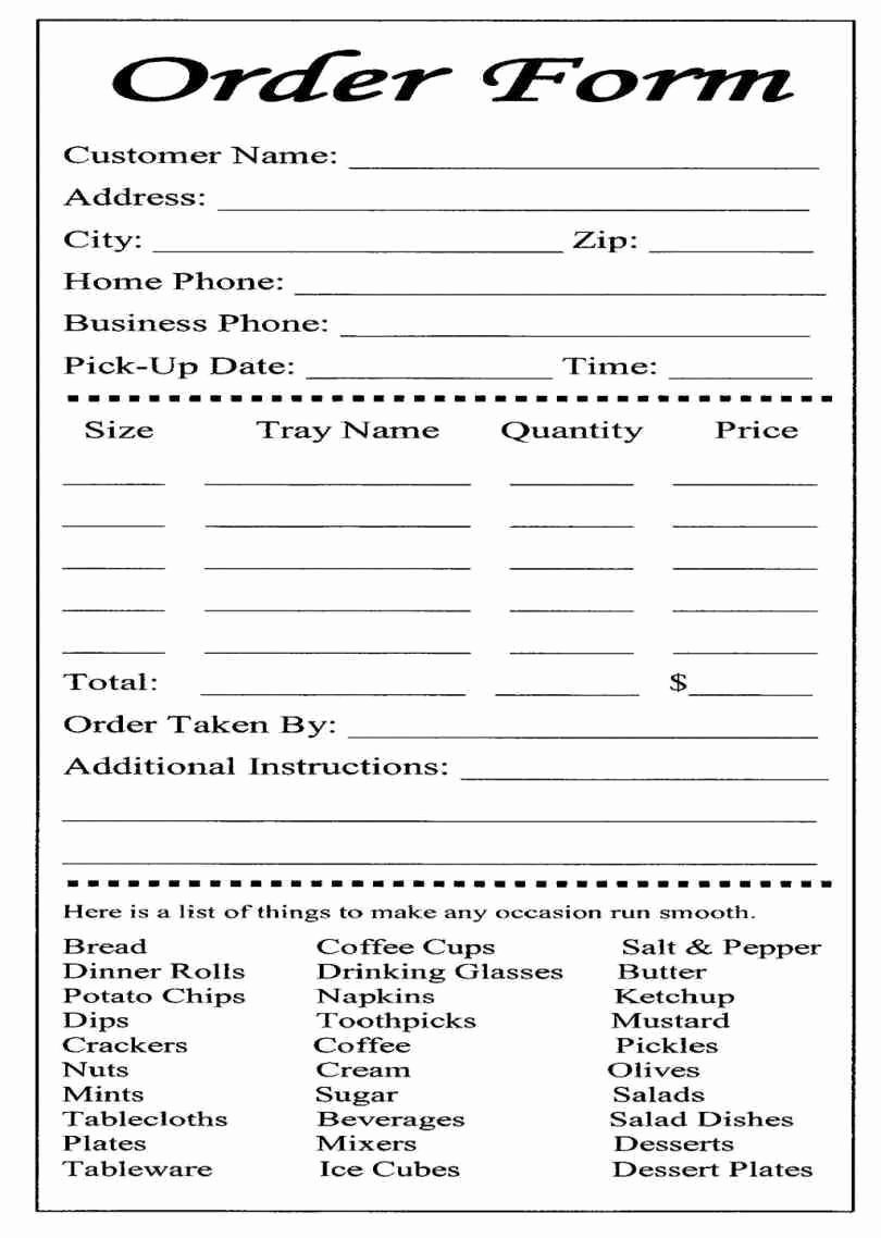 Food order form Template Unique Catering or Carryout form Used for Online ordering and the Collection Payment Food Restaurant