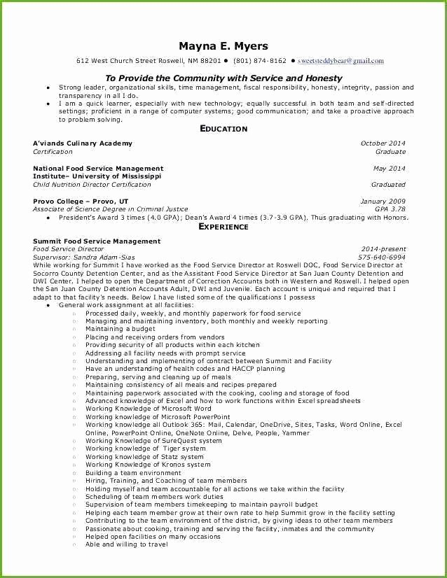 Food Service Manager Resume Beautiful Food Service Manager Resume – Thrifdecorblog