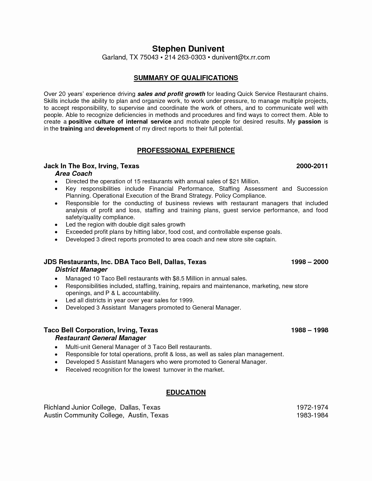 Food Service Manager Resume New 14 15 Auto Service Manager Resume