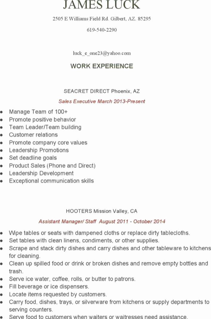 Food Service Manager Resume Unique Download Food Service assistant Manager Resume for Free