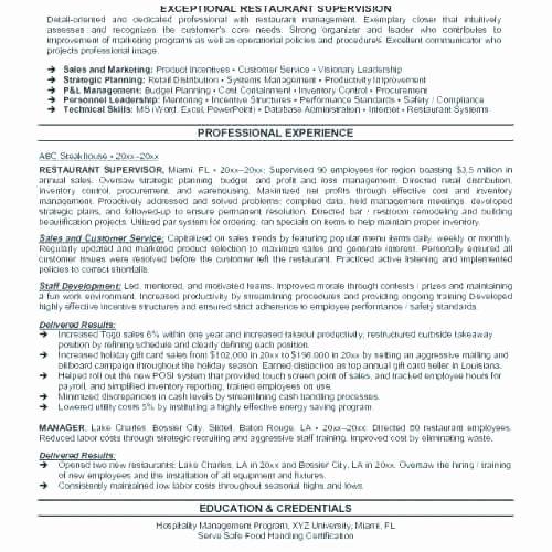 Food Service Manager Resume Unique Food Service Manager Resume – Thrifdecorblog