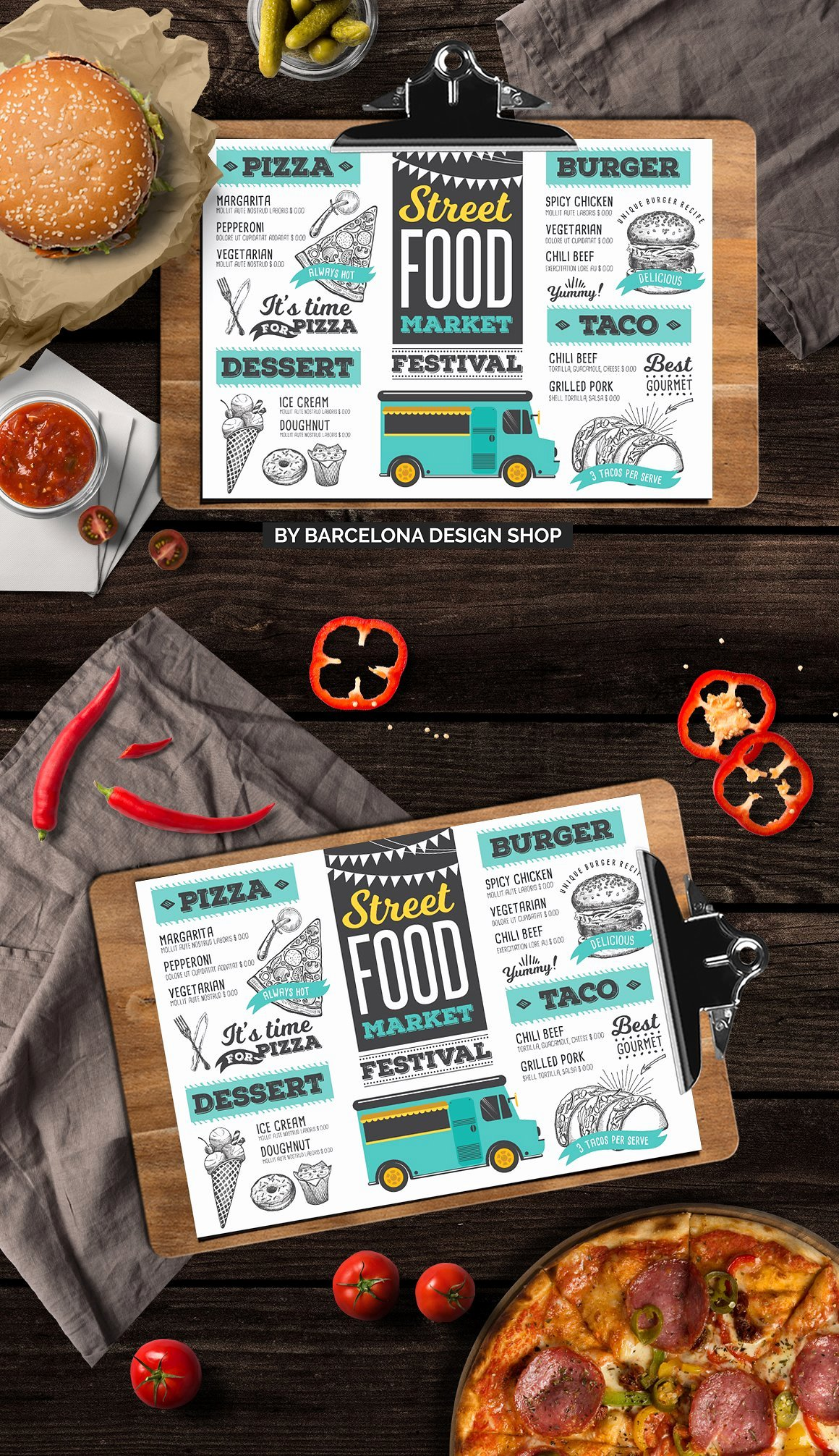 Food Truck Menu Template Fresh top 37 Free & Low Cost Restaurant Menu Templates