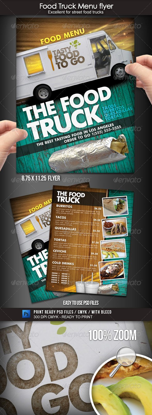 Food Truck Menu Template Inspirational 60 Premium Restaurant Menu Templates Dzineflip