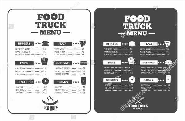 Food Truck Menu Template Lovely 21 Food Truck Menu Templates Free & Premium Download