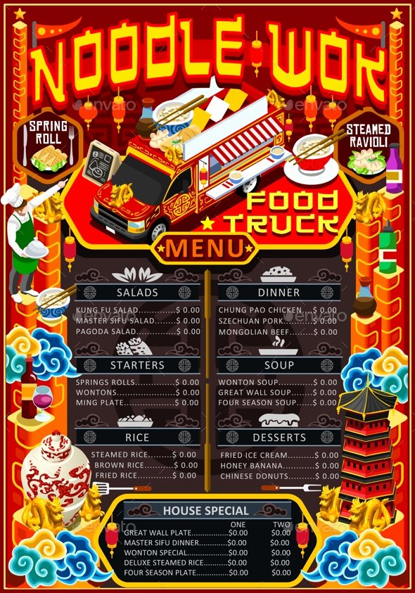 Food Truck Menu Template Luxury 14 Food Truck Menu Designs & Templates Psd Ai Indesign