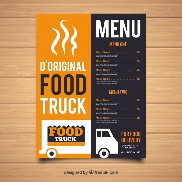 Food Truck Menu Template Luxury original Food Truck Menu Template Vector