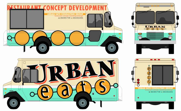 Food Truck Menu Template Unique Food Truck Autward Design Food Truck Wrap Template Projects to Try