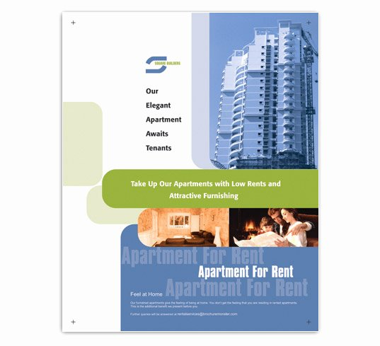 For Rent Flyer Template Inspirational Low Rent Apartment Flyer Templates