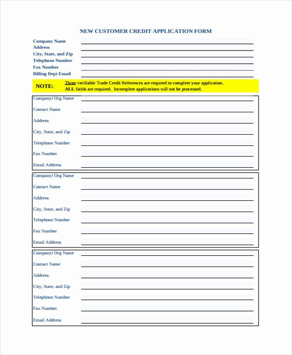 Ford Credit Application Pdf Awesome Free 31 Credit Application forms