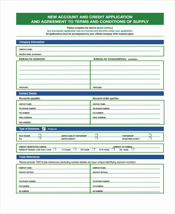 Ford Credit Application Pdf Elegant Free 31 Credit Application forms