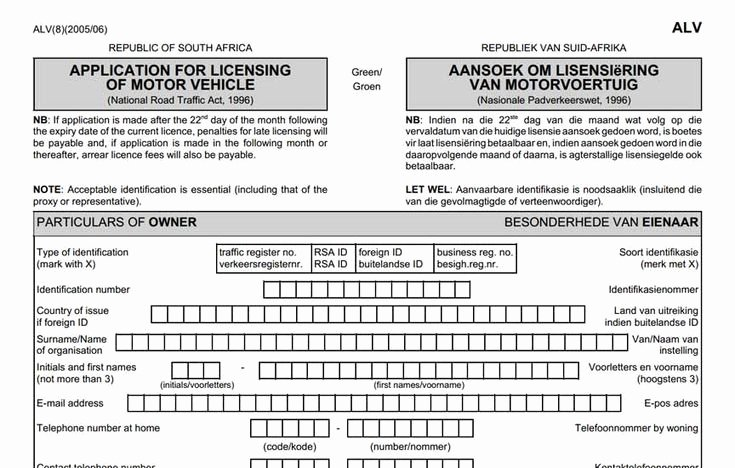 Ford Credit Application Pdf Fresh Application form for Renewal Of Motor Vehicle License Disc Car In 2019