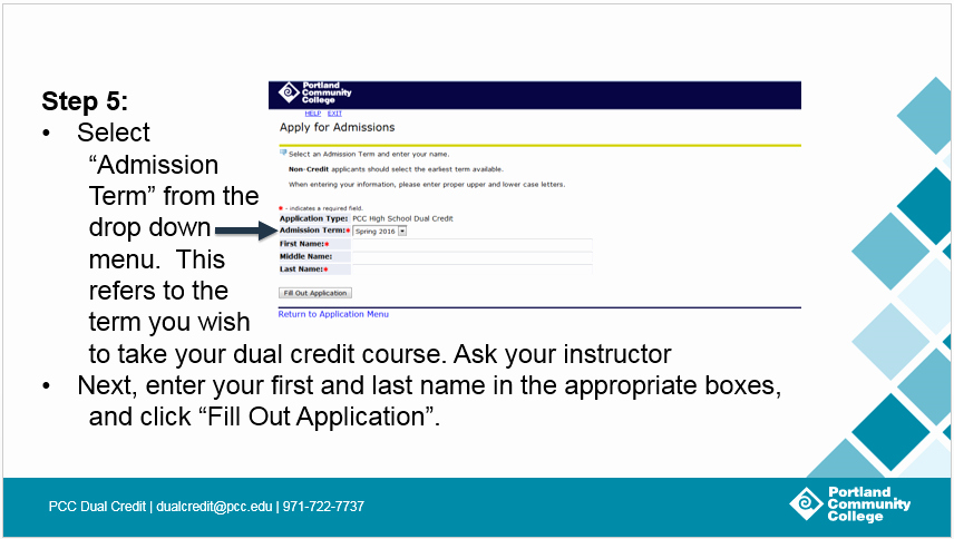Ford Credit Application Pdf Unique Step 1 Apply for Admission