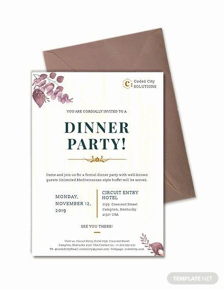corporate dinner invitation