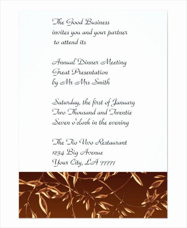 Formal Dinner Invitations Templates Fresh 67 Dinner Invitation Designs Psd Ai