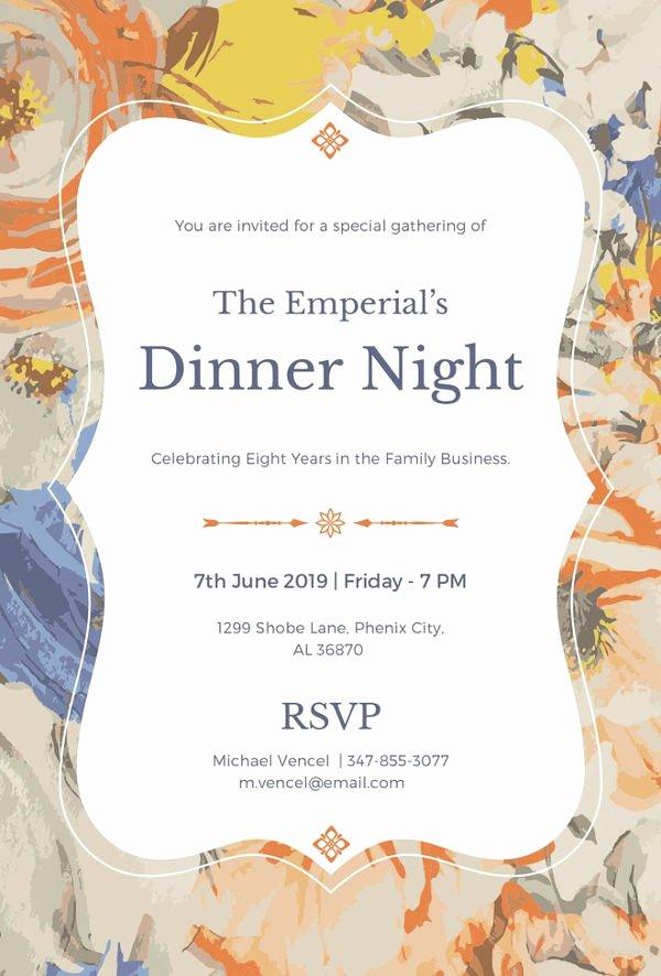 Formal Dinner Invitations Templates Fresh 8 Dinner Invitation Card Templates Psd Ai Vector Eps