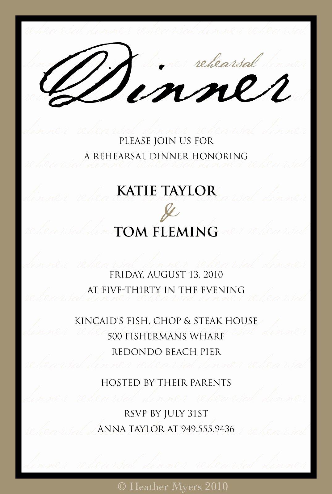 Formal Dinner Invitations Templates Lovely formal Dinner Invitation Templates