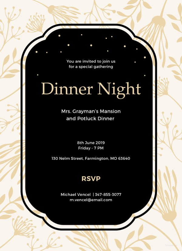 Formal Dinner Invitations Templates New 14 formal Dinner Invitations Psd Word Ai Publisher Apple Pages