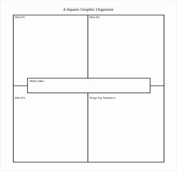 Four Square Graphic organizers Luxury 12 Four Square Writing Templates – Free Sample Example format Download