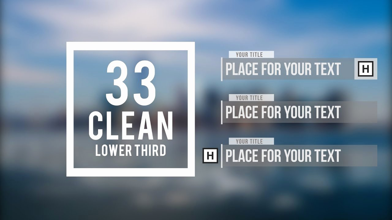 Free after Effects Lower Thirds Elegant Adobe after Effects 33 Clean Lower Third Free Template