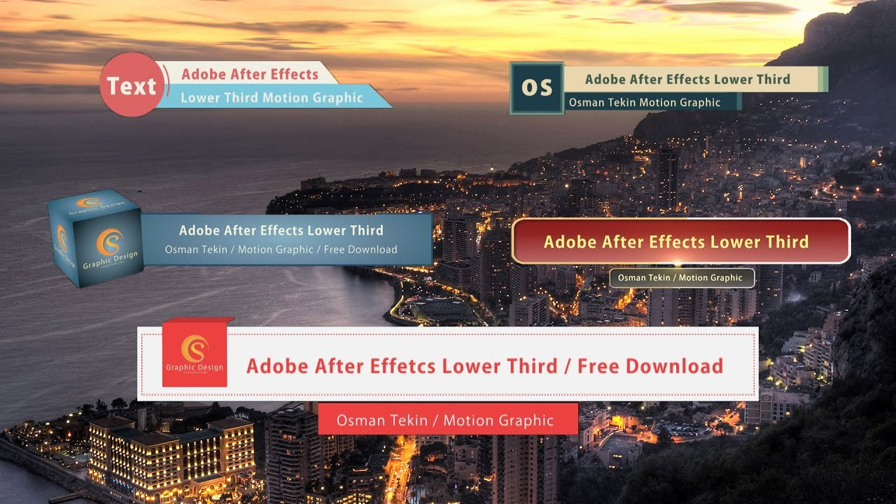 Free after Effects Lower Thirds Elegant after Effects 5 Lower Third Free Download