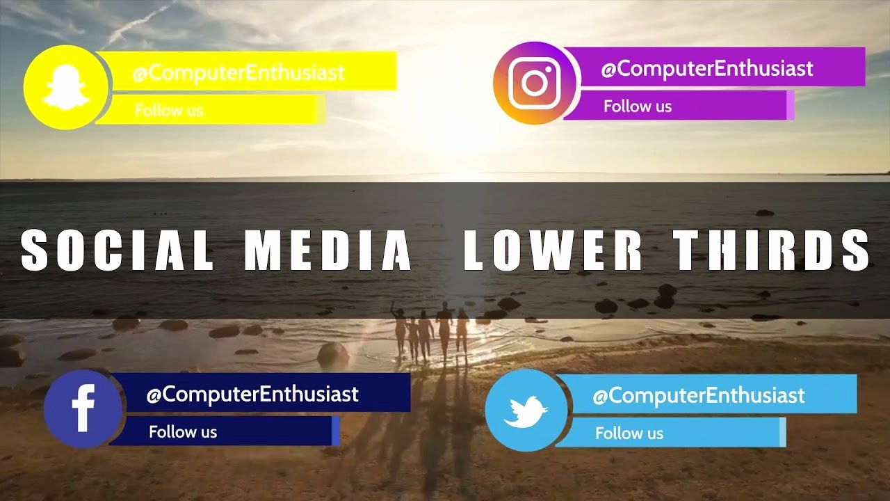 Free after Effects Lower Thirds Inspirational Free social Media Lower Thirds 1 after Effects