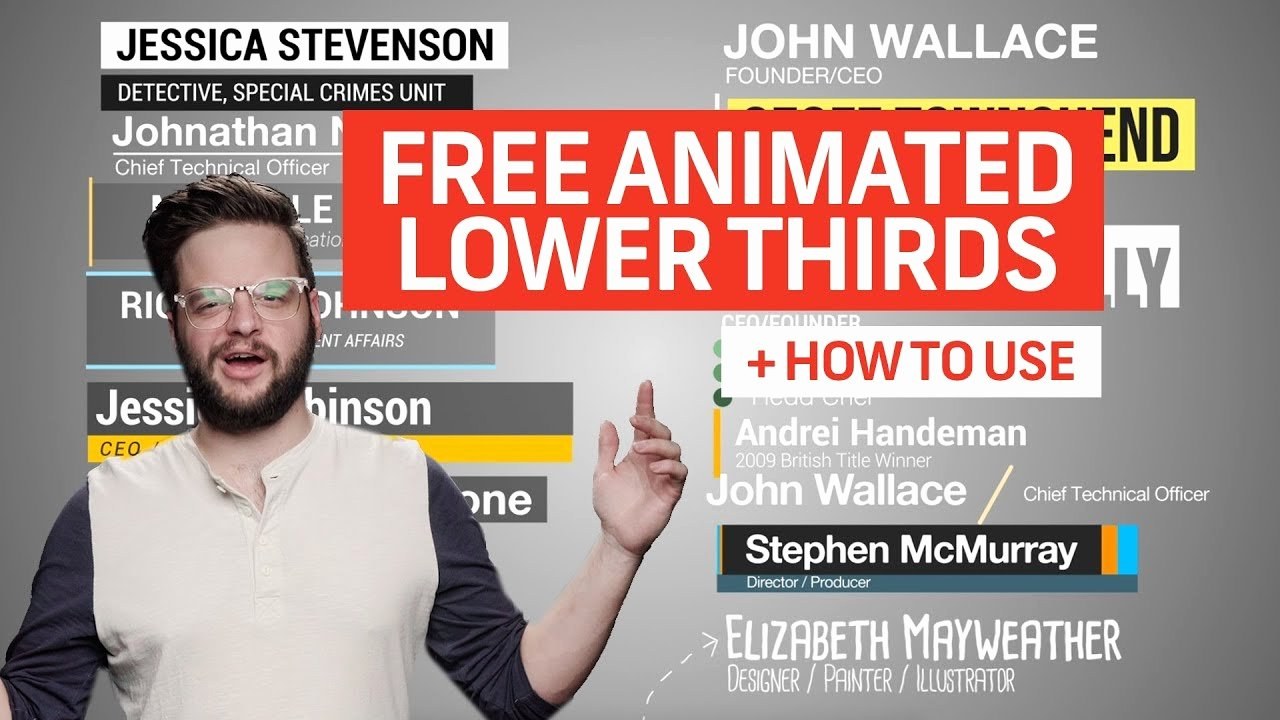 Free Animated Lower Thirds Lovely 15 Free Animated Lower Thirds for Premiere How to Use