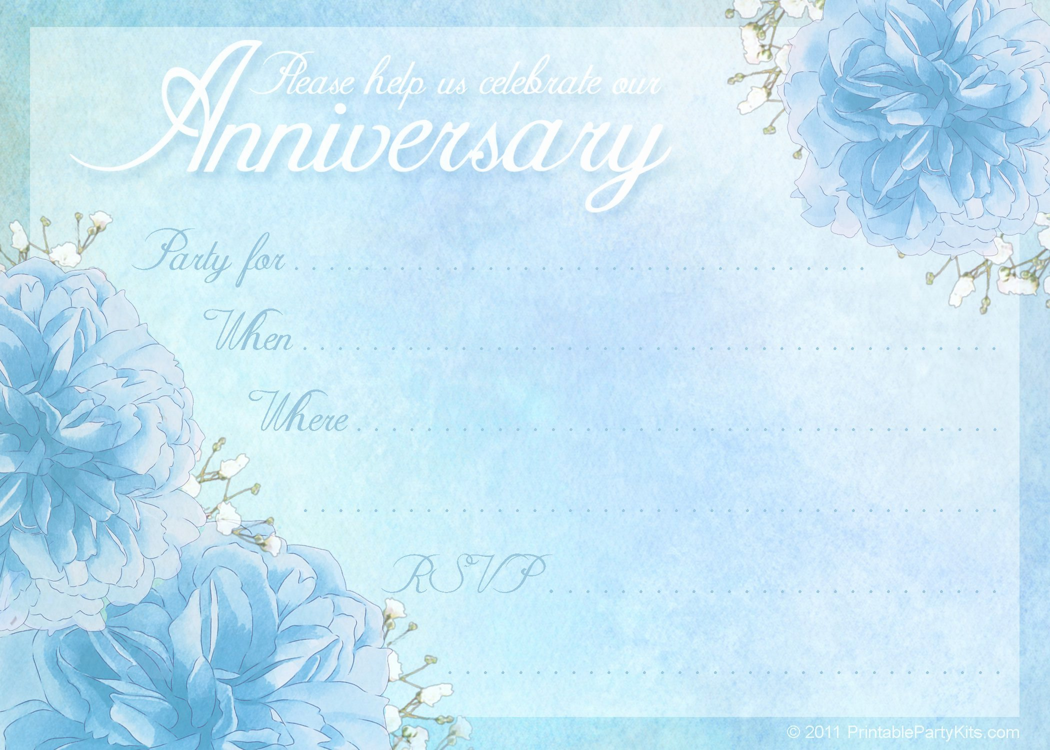 Free Anniversary Invitation Templates Beautiful Anniversary Party Invitations Templates Free