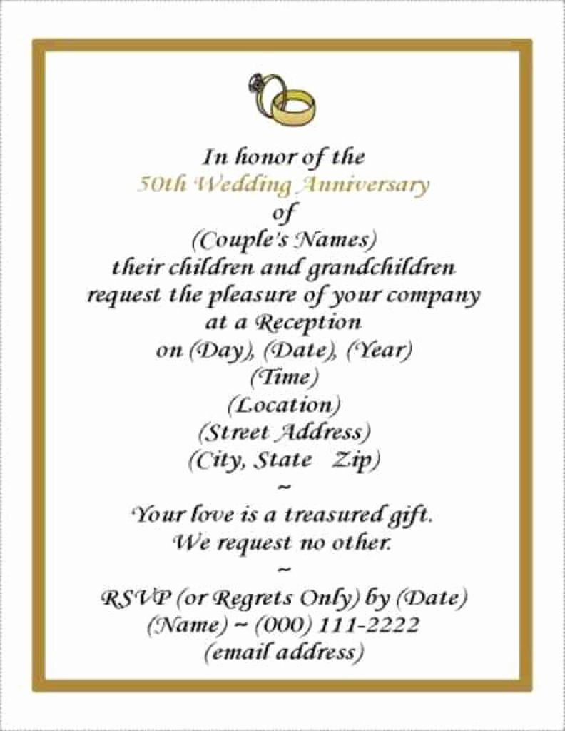 Free Anniversary Invitation Templates Best Of Free Wedding Anniversary Invitation Template