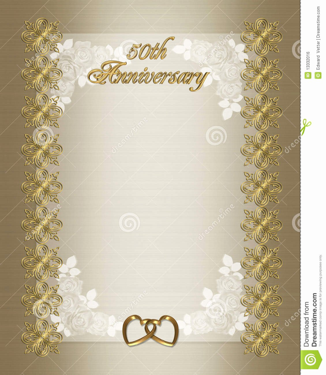 Free Anniversary Invitation Templates Inspirational 50th Wedding Anniversary Invitation Template Stock