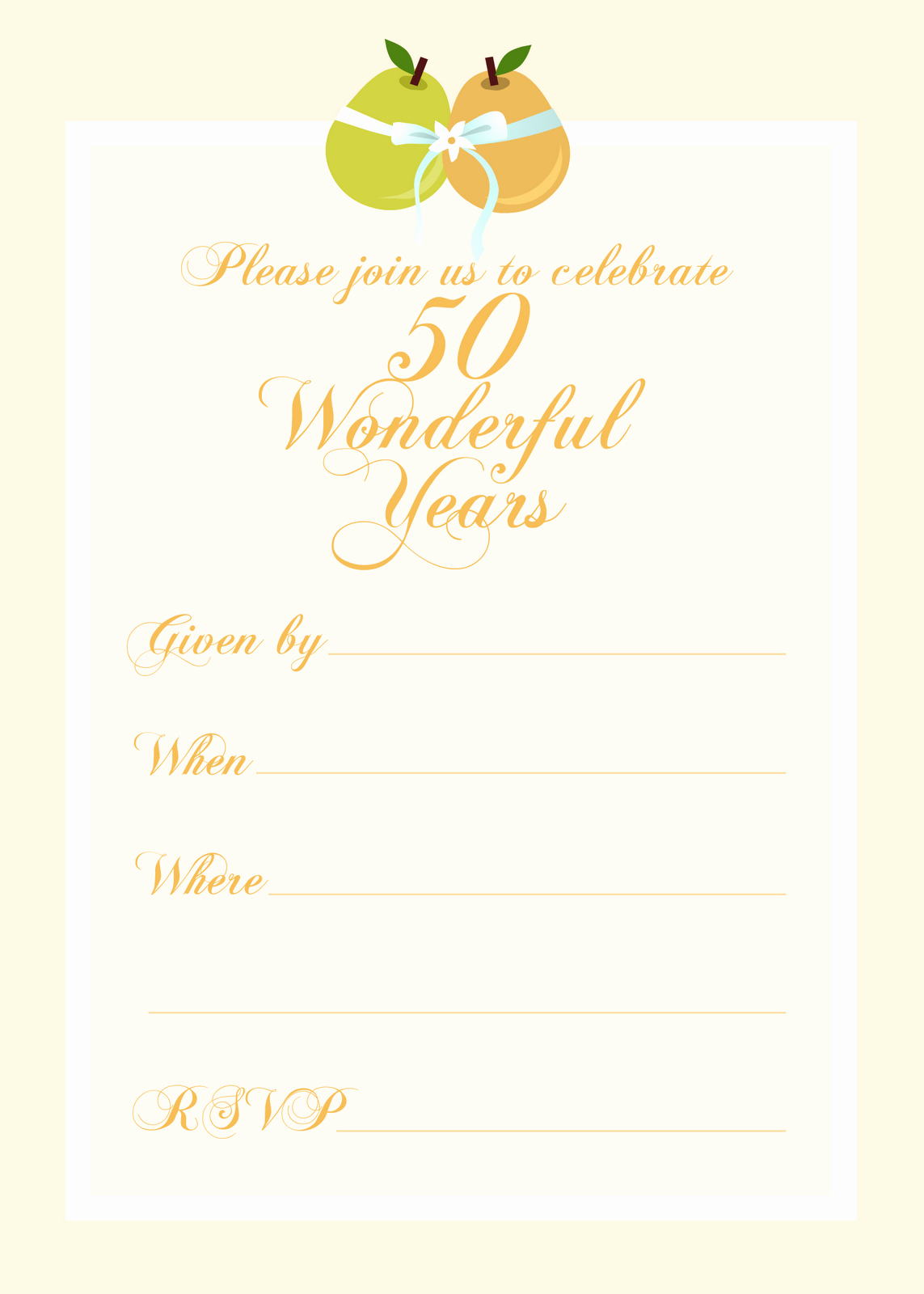 Free Anniversary Invitation Templates Inspirational Free Printable Party Invitations Free 50th Wedding
