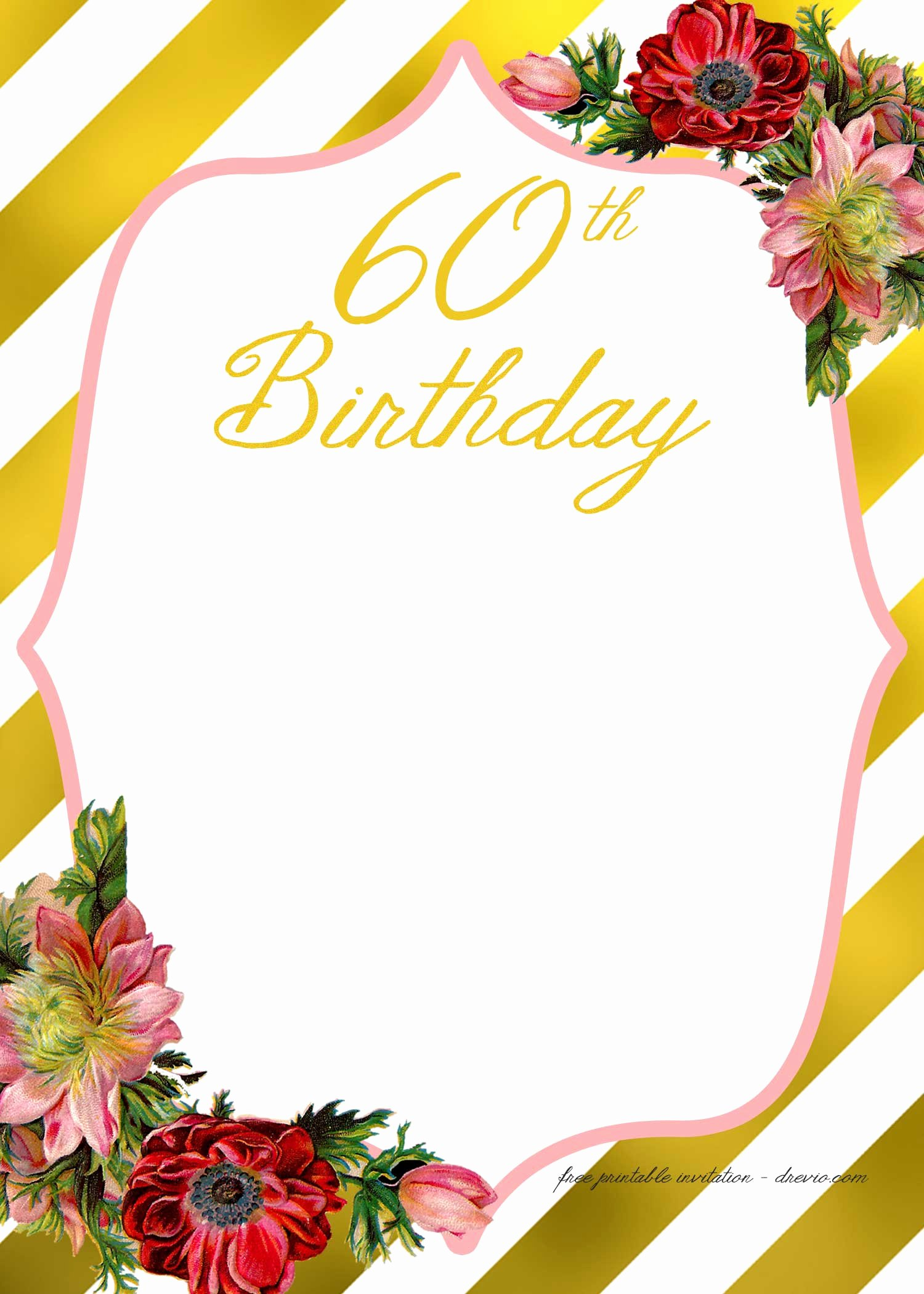 Free Anniversary Invitation Templates Luxury Adult Birthday Invitations Template for 50th Years Old