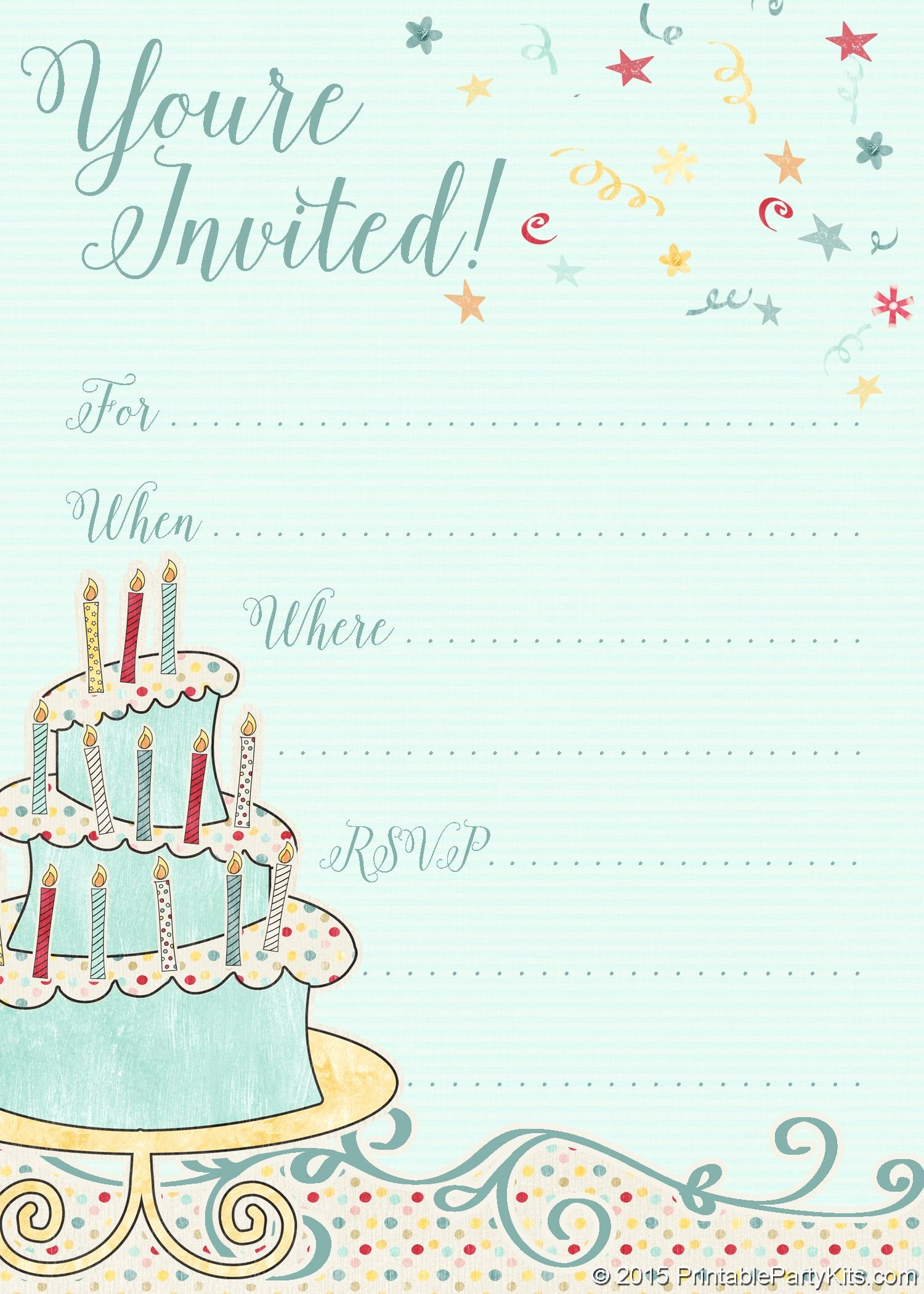 Free Anniversary Invitation Templates Luxury Free Printable Whimsical Birthday Party Invitation