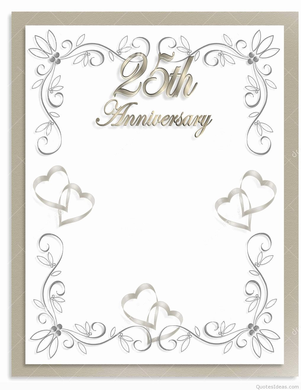 Free Anniversary Invitation Templates New Free 25th Wedding Anniversary Invitations Free Templates